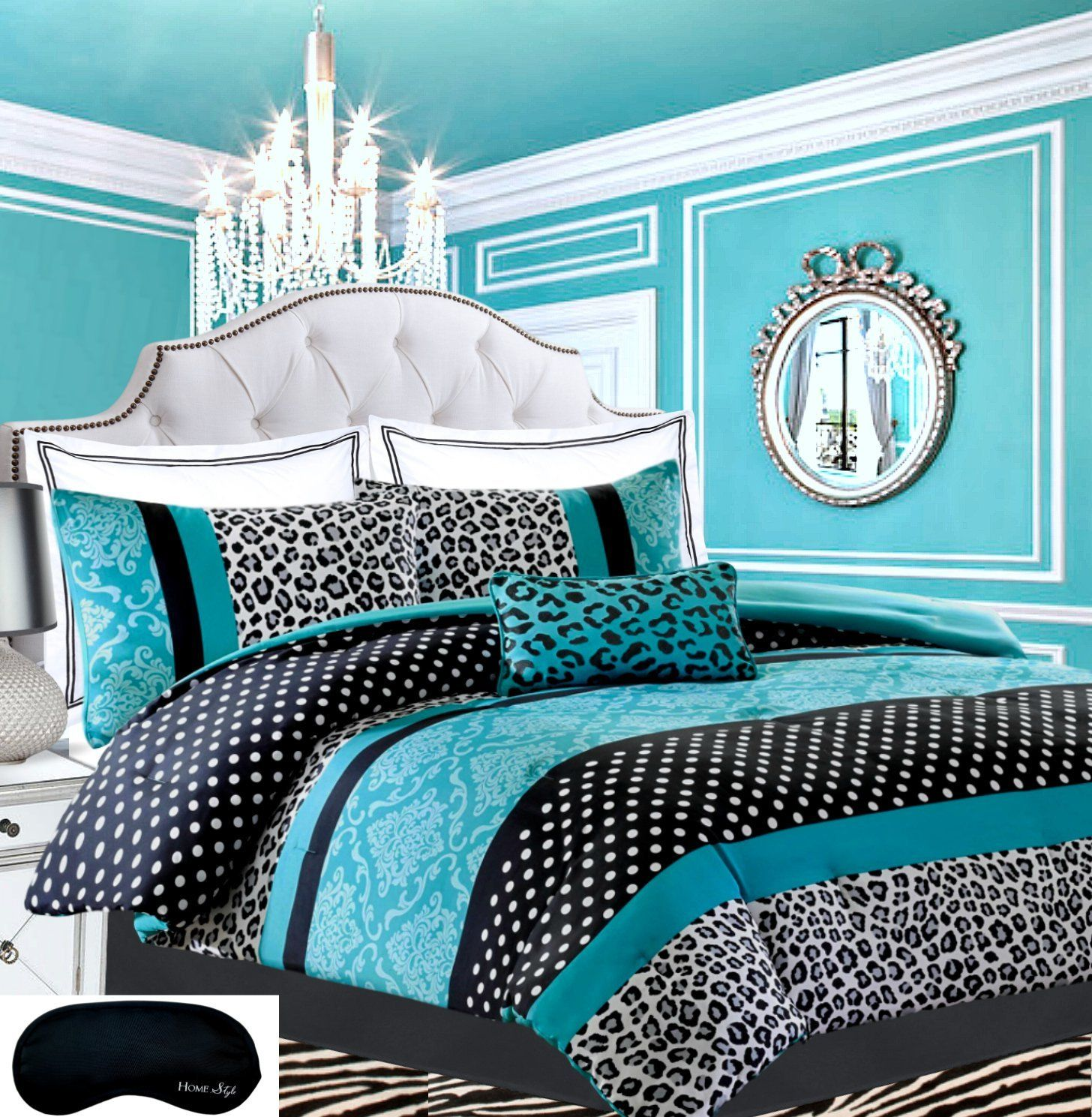 Teen Girls Bedding Damask Leopard forter TWIN TWIN XL Bedspread