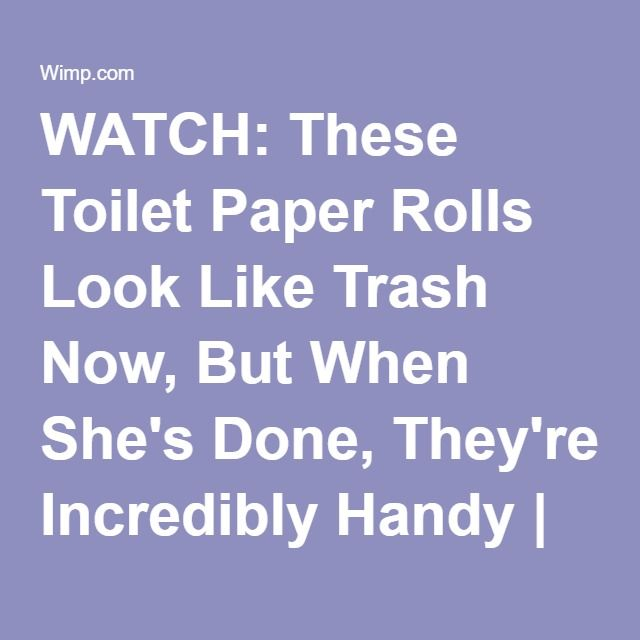 WATCH: These Toilet Paper Rolls Look Like Trash Now, But When She's Done, They're Incredibly Handy | facebook