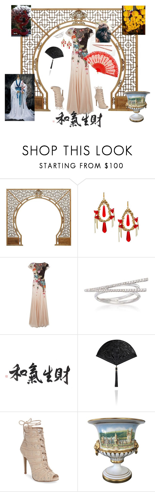 """""""China Girl"""" by stormysmom on Polyvore featuring jared, Temperley London, Ross-Simons, Chinese Laundry and Spode"""