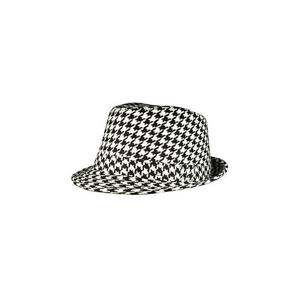 f1e028c2ee679 Discount Houndstooth Fedora  F1259-BK - Wholesale Accessory Market ❤ liked  on Polyvore featuring accessories