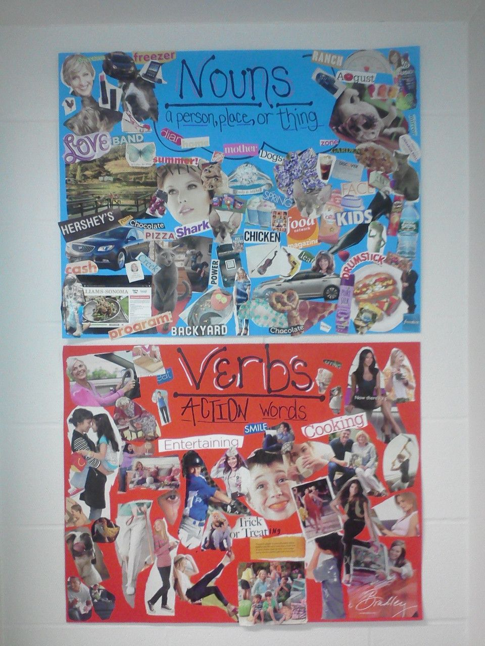 Noun and verb collage-Students have so much fun making them. Keep it ...
