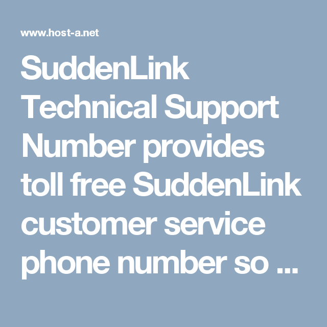 SuddenLink Technical Support Number provides toll free SuddenLink ...
