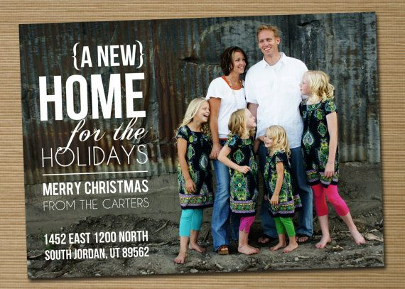 Photo Christmas Card New Address Card Printable New Home For The