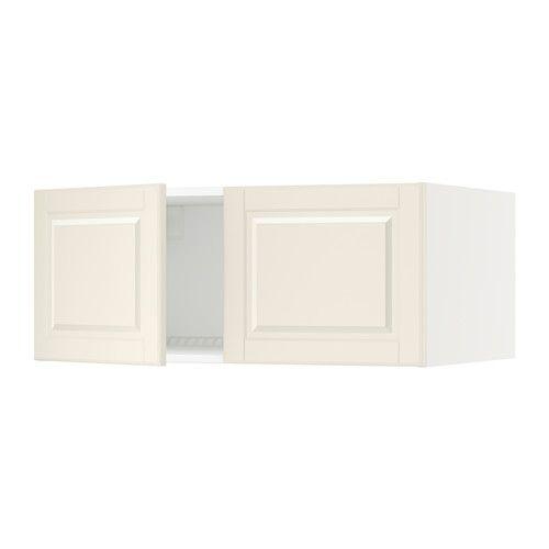 "SEKTION Top cabinet for fridge w/2 doors - white, Bodbyn off-white, 36x24x15 "" - IKEA"