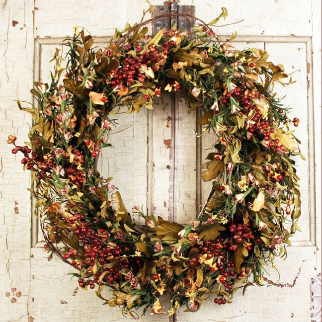 Gianna Fall Silk Door Wreath 22 Inch Fall Wreaths Diy Fall Wreath Easy Fall Wreaths