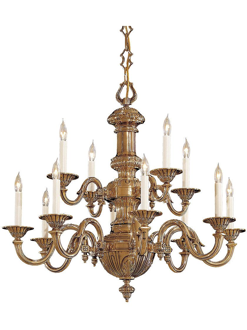 Mast Br English Georgian 12 Light Chandelier In Clic Finish House Of Antique Hardware Mive Center Column To The Fluted Bobeches Is