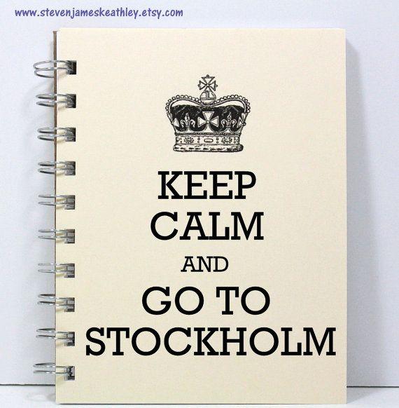 Stockholm Travel Journal Notebook Diary by stevenjameskeathley, $8.95
