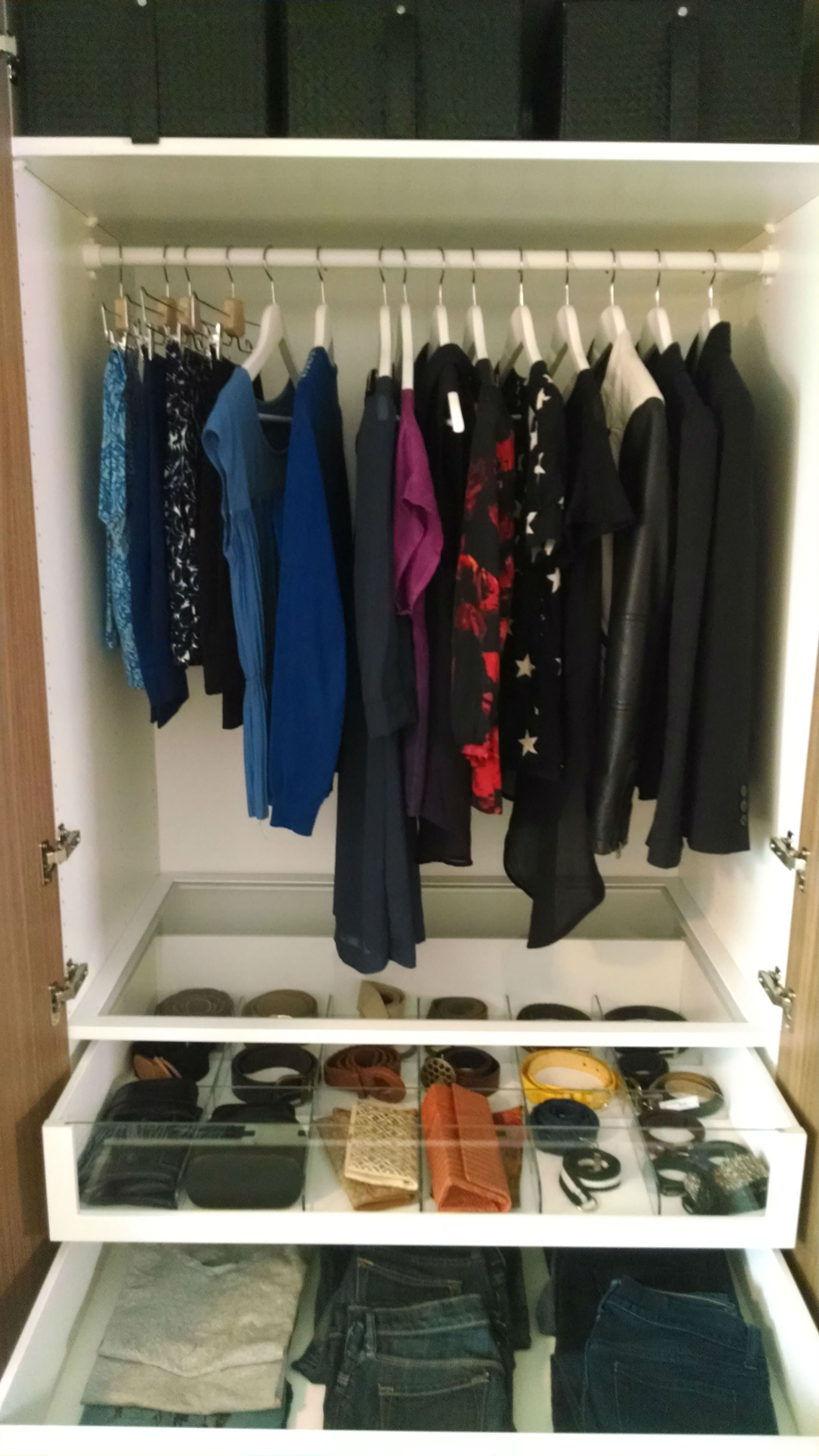 PAX Wardrobe Lets You See All Of Your Options For The Day. From Tops, To  Bottoms, To Accessories U2013 Glass KOMPLEMENT Inserts Gives Your Day The Good  Start ...