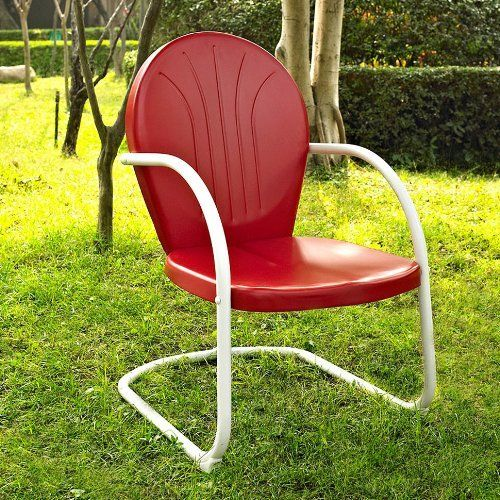 Crosley Gracie 3 Piece Metal Outdoor Conversation Seating Set Coral Red 7743772 Lounge Chair Outdoor Traditional Patio Furniture Outdoor Chairs