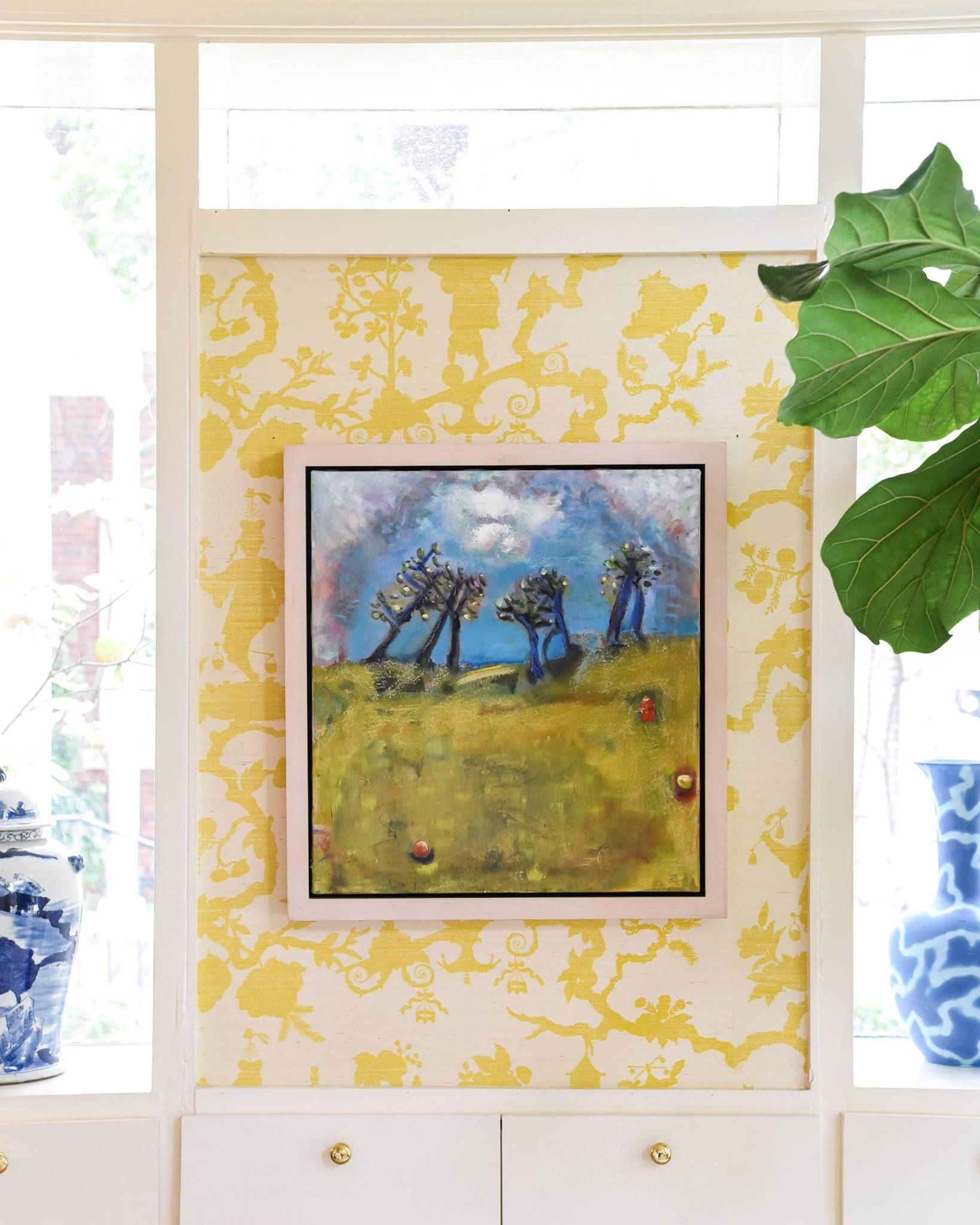 original art by carolyn evans sold at blue print   yellow grasscloth ...