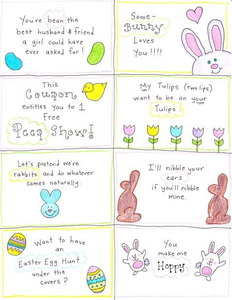 Happy Hubby Easter Cards - free printables as download