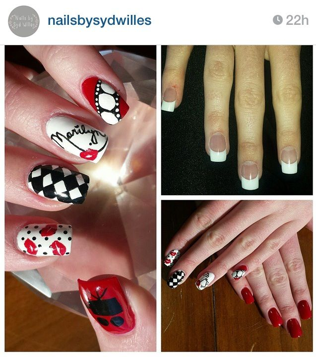 Marilyn Monroe nails red black movie Nails by Syd | Beauty ...