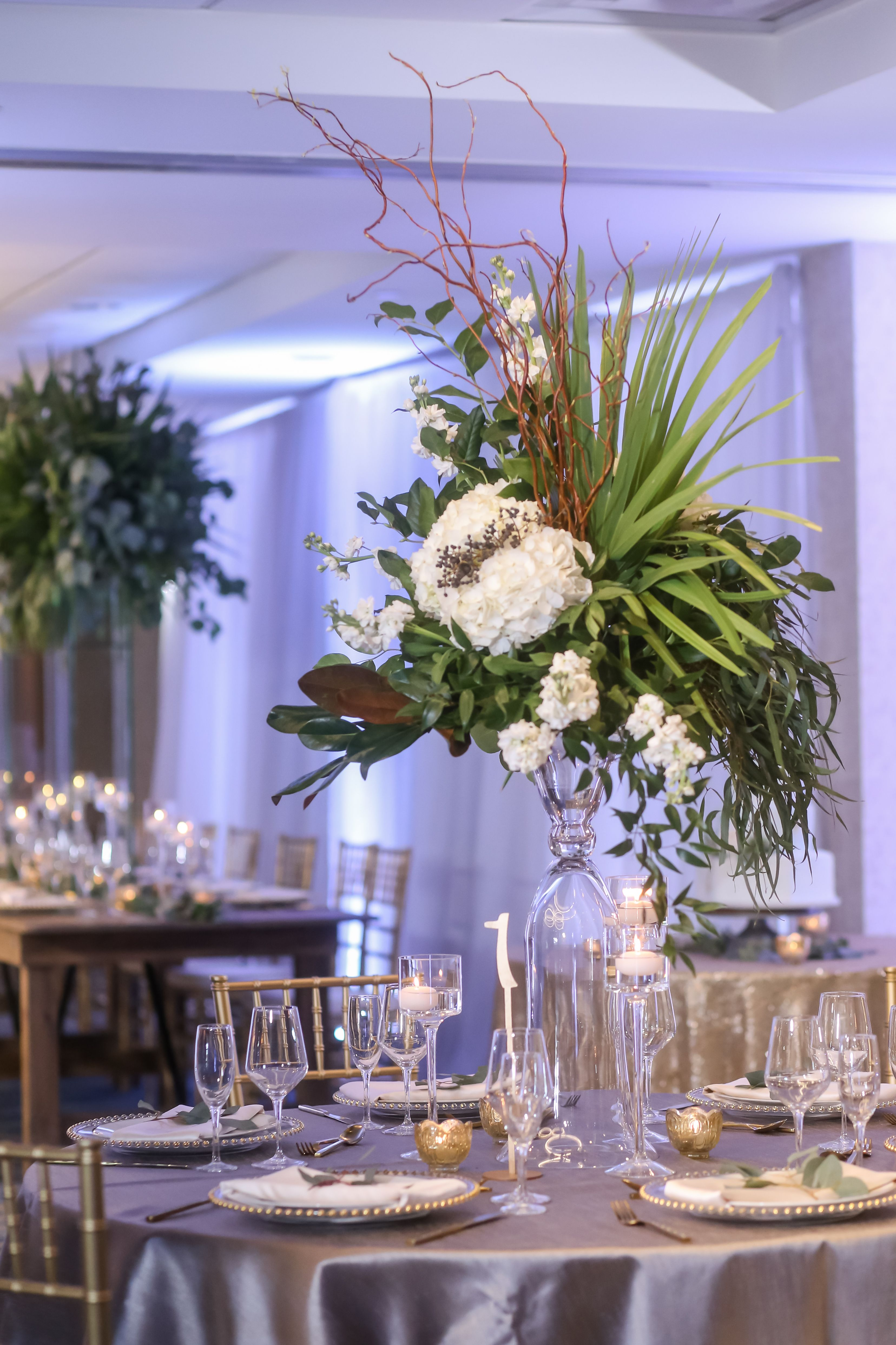 Modern White And Gold Organic Beachfront Wedding Round Wedding