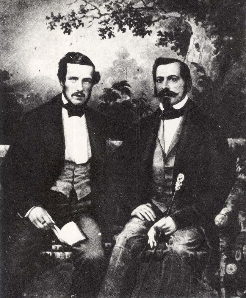 Prince Gustav and King Oscar in Germany 1852