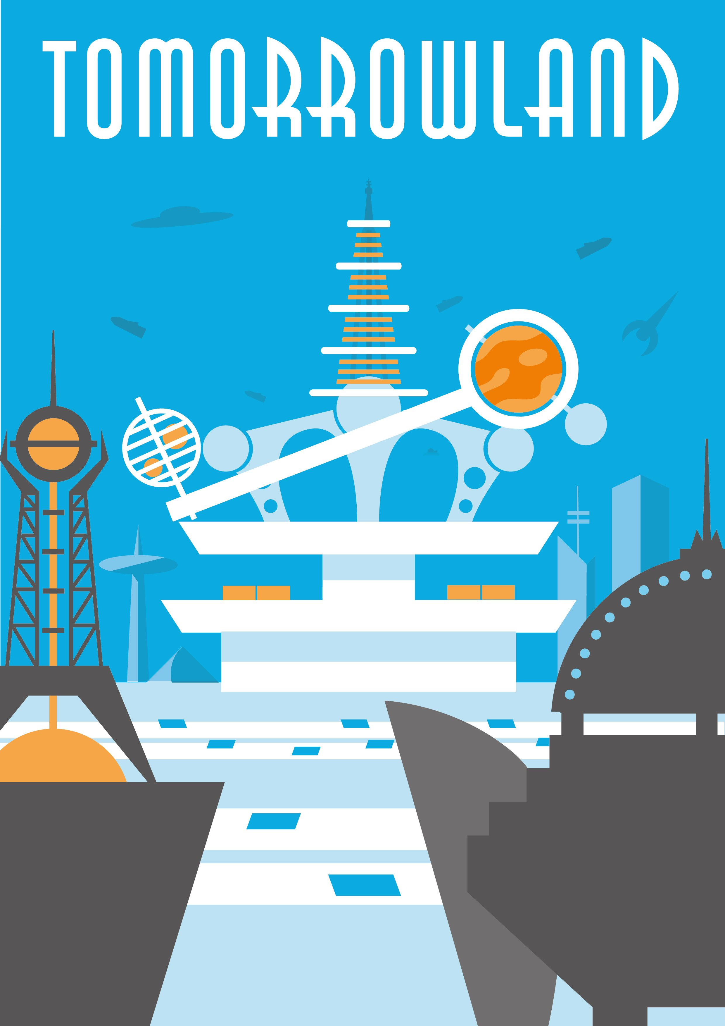 Poster design process - Tomorrowland Poster Including A Walkthrough Of The Design Process