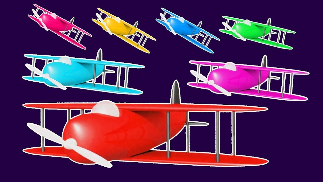learn colors for children with airplanes 3d colours for kids