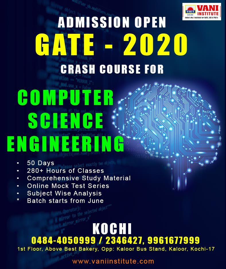 Gate Crash Course For Computer Science Information Technology Engineering Cs Students Crash Course Gate Coaching Computer Science