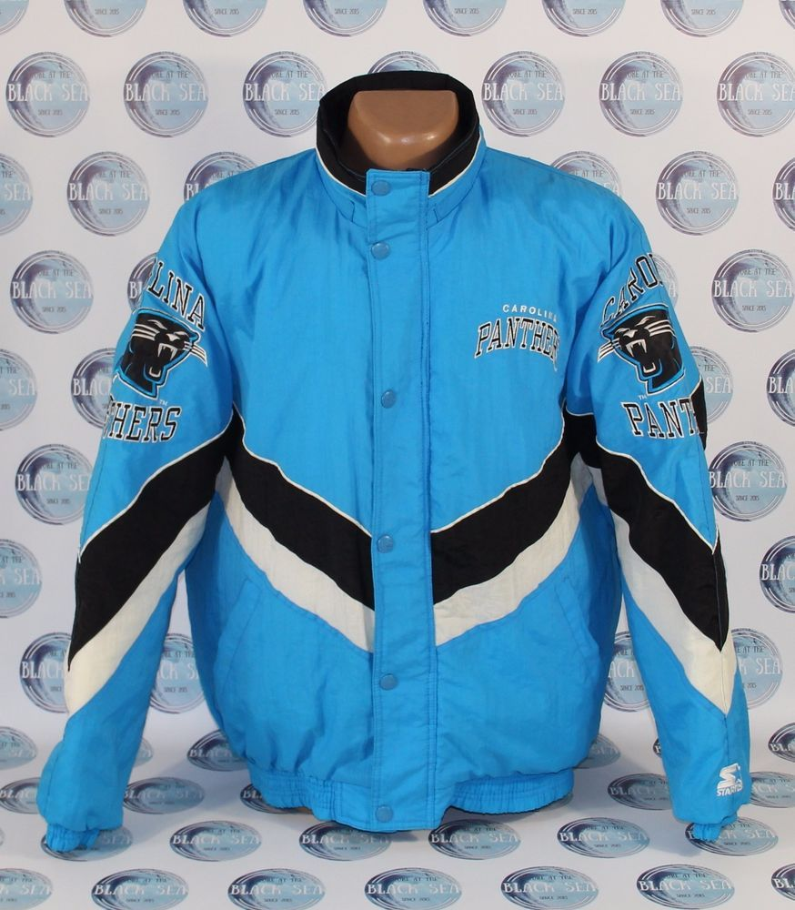 best sneakers 86afc 111a4 CAROLINA PANTHERS COAT JACKET AMERICAN FOOTBALL NFL STARTER ...