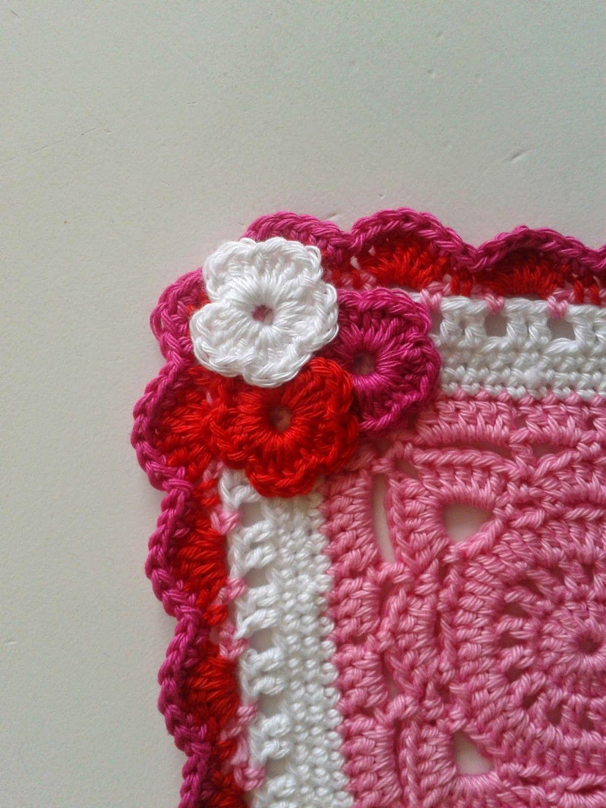 By Henja Babydeken En Patroon Rand Knutsel Crochet Crochet