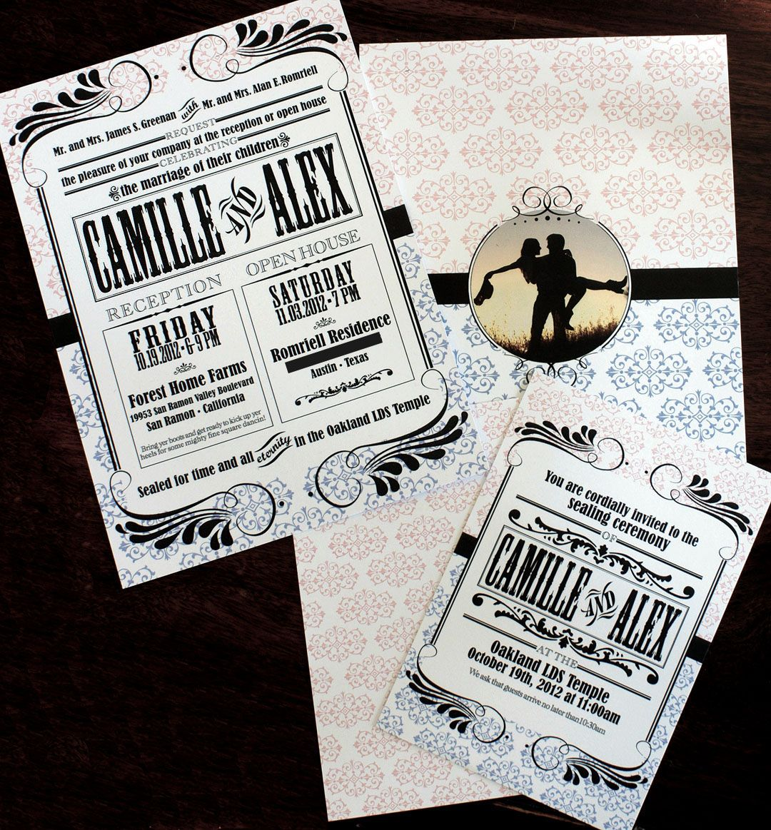 Western themed wedding invitation. Aka ours! | Camille\'s Communal ...