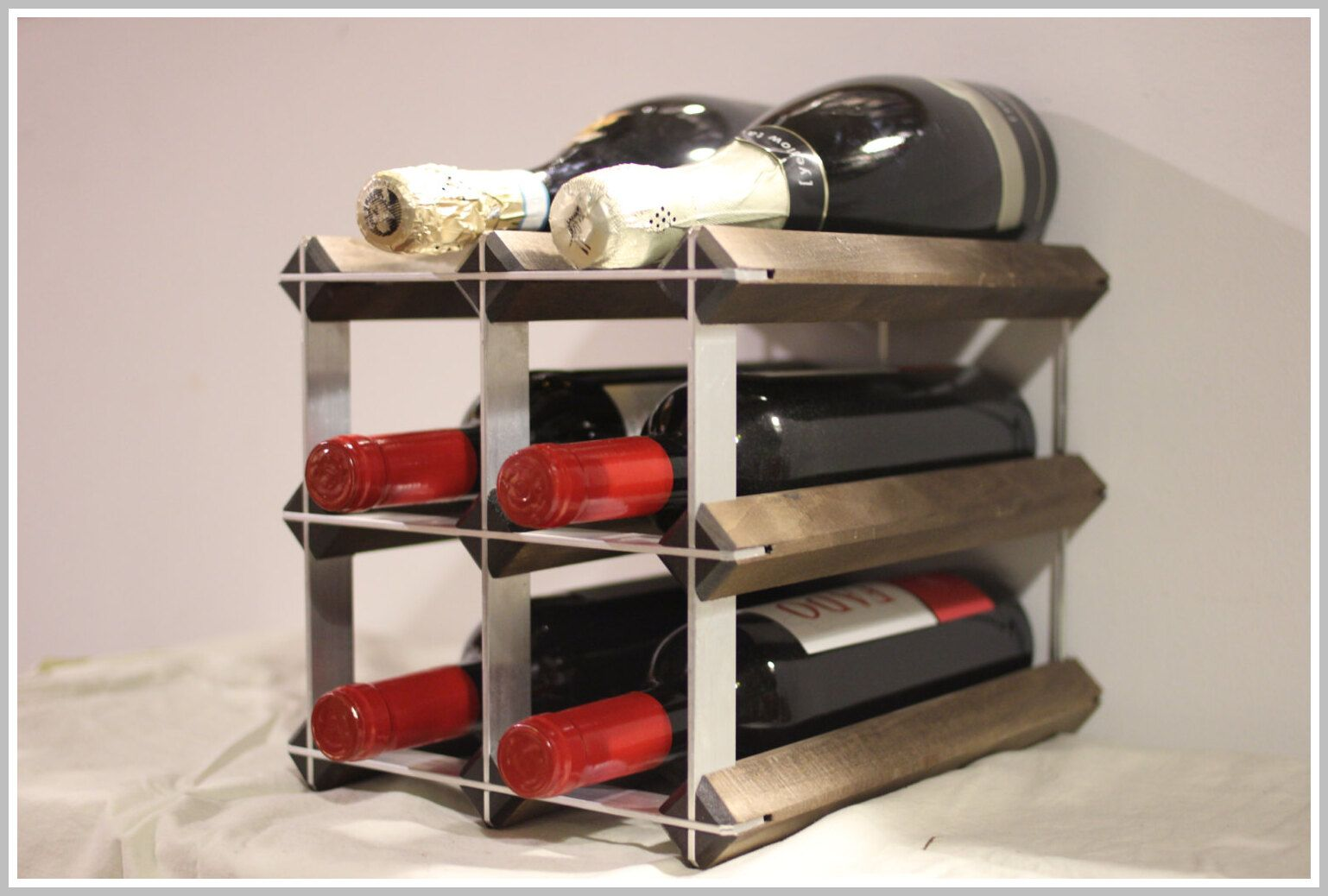 32 Reference Of Modern Wine Rack Countertop In 2020 Modern Wine Rack Countertop Wine Rack Wine Rack