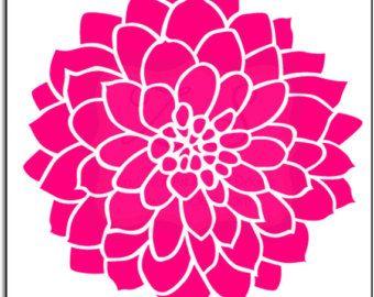 dahlia flower clipart cricuit pinterest flower clipart and rh pinterest com teal dahlia clipart pink dahlia clipart