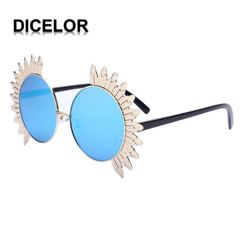DICELOR 5 Colors For Choose Mirror Flat Sunglasses for Women Bright Centro Sun Glasses Female Leisure Eyewear 610