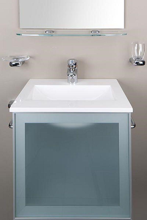platzsparendes waschbecken mit raffinierten details f r das g ste wc mit einlass waschbecken. Black Bedroom Furniture Sets. Home Design Ideas