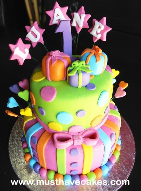 Wow Colourful Birthday Cake