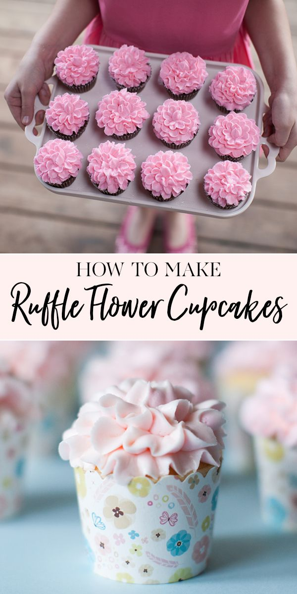 How To Make Ruffle Flower Cupcakes Flower Cupcakes Easy Cupcakes Decoration Easy Cupcakes