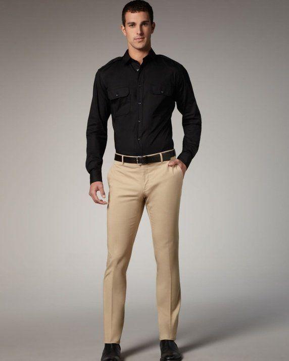 Black & Khaki = Class and Elegance