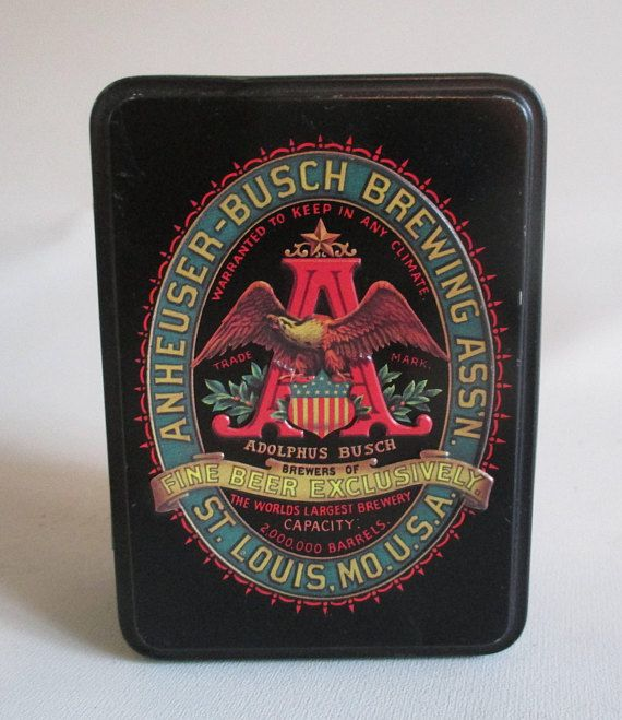 Anheuser Busch Tin And Classic Playing Cards Vintage For Sale At