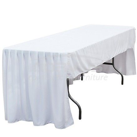 Vendo manteles blancos plisados para mesas hoteleras - Manteles mesa rectangular ...