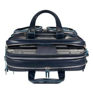 47f1363282 Borsa espandibile Piquadro Blue Square blu porta PC e porta iPad con tasche  organizzate e tasca porta ombrello CA2765B2/BLU2
