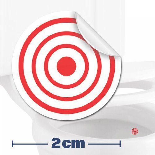 10 x pegatinas con diana Ayuda para que los ni/ños aprender a ir al ba/ño 2cm Divertido entrenamiento para usar el inodoro en el cuarto de ba/ño.