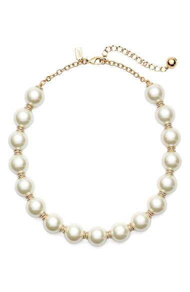 kate spade new york faux pearl collar necklace available at #Nordstrom