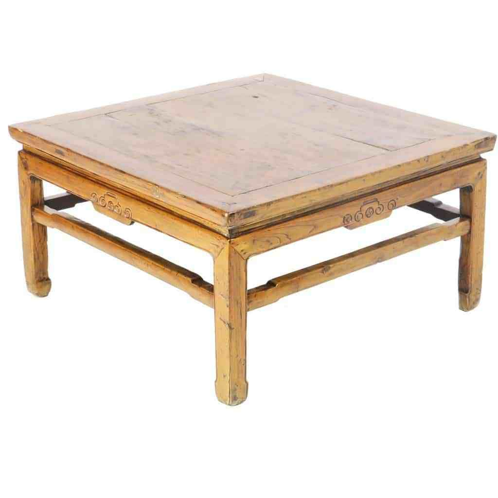 Antique Chinese 34 Inch Square Coffee Kang Table Antiques Wood Pieces Table [ 1024 x 1024 Pixel ]