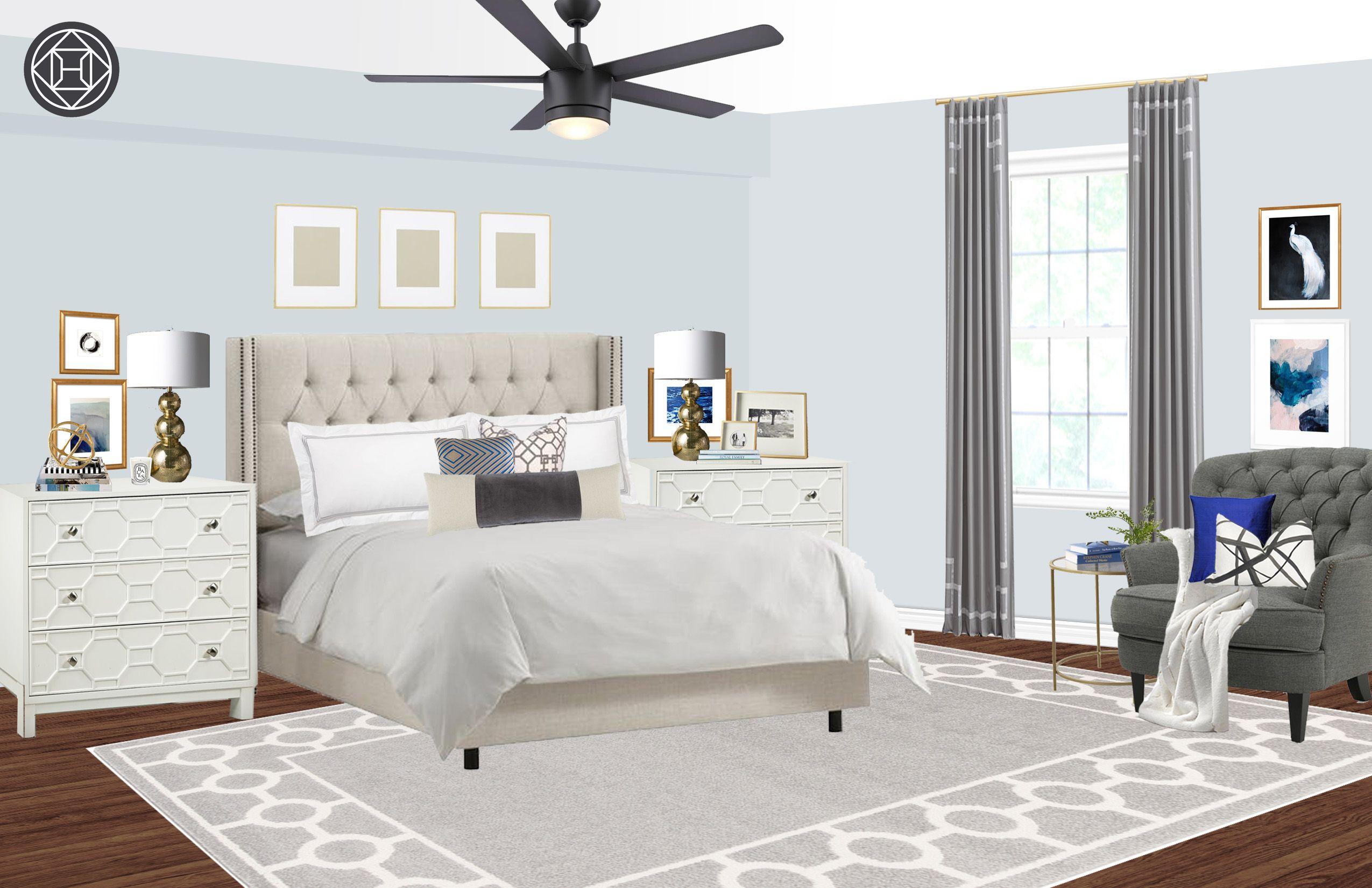 Contemporary Classic Bedroom Design By Havenly Interior Designer