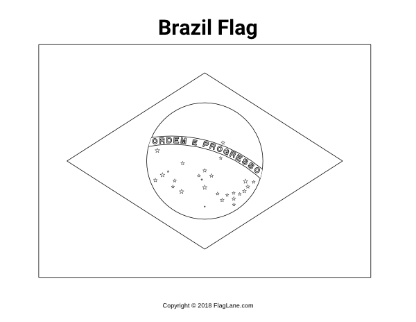 photograph about Brazil Flag Printable titled Pin via Muse Printables upon Flags - Flag Shots and Coloring