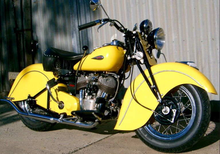 Shining Yellow '40 Indian Sport Scout Motocycle Indian