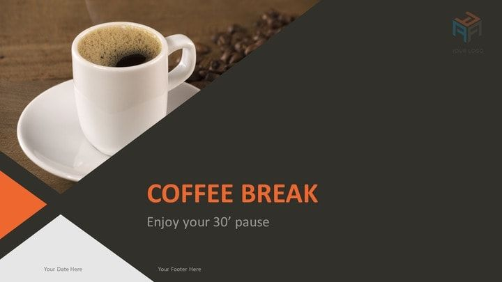 corporate business powerpoint template - coffee break | powerpoint, Presentation templates