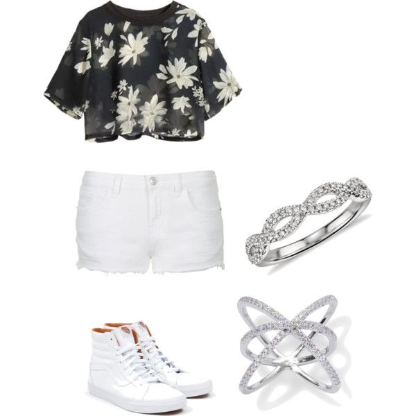 A fashion look from March 2015 featuring Topshop shorts, Vans sneakers and Blue Nile rings. Browse and shop related looks.