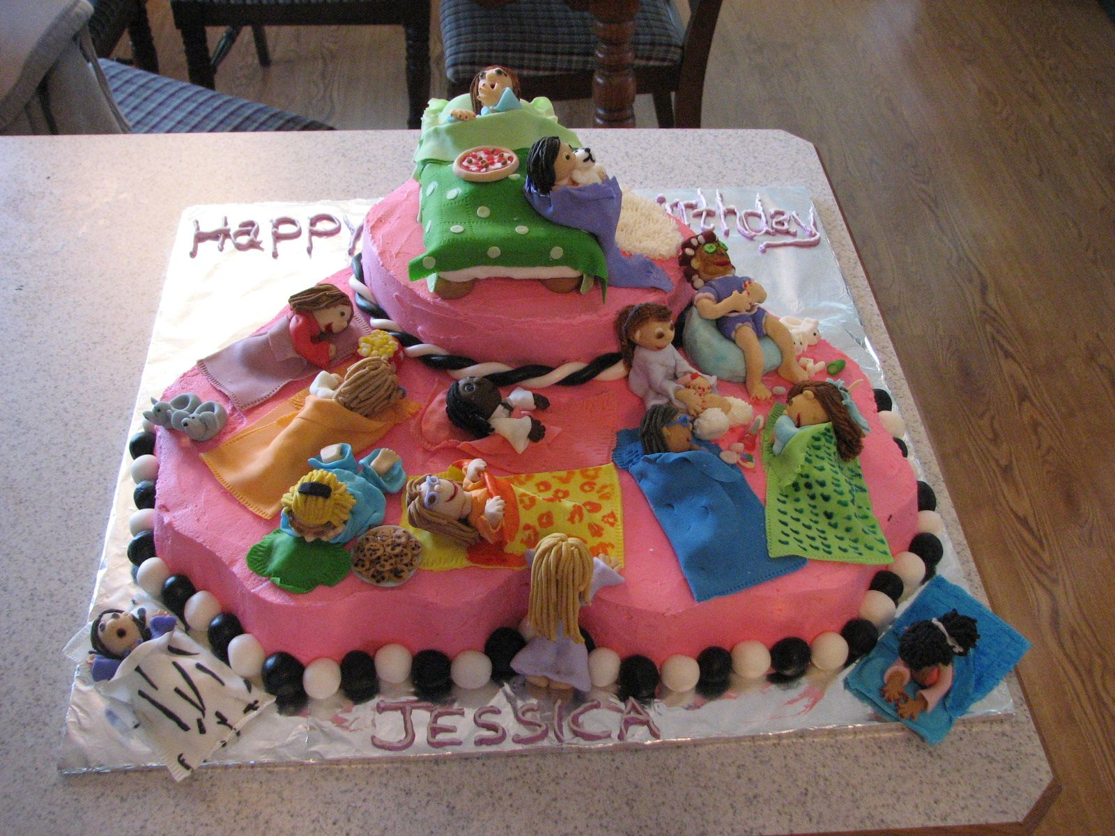 Sleepover Birthday Cake Made Each Girl That Came To The Party It