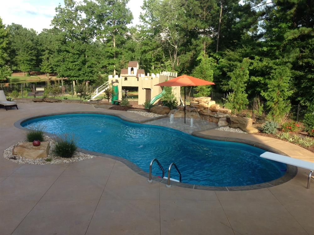 Swimming Pool Fiberglass Swimming Pool Decor With Greenery Garden