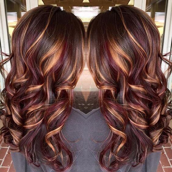25 best hairstyle ideas for brown hair with highlights dark red 25 best hairstyle ideas for brown hair with highlights pmusecretfo Image collections