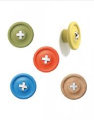 Cute Coat Hooks wooden button hooks #button #colors | wishlist | pinterest | coat