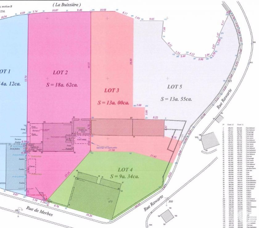 Dépendances  Grange (9 ares) et terrain à bâtir (13 ares) Achat