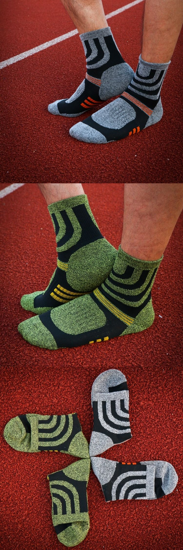 2017 New men cotton thick socks out door sox walking brand green white quick dry crew & 2017 New men cotton thick socks out door sox walking brand green ...