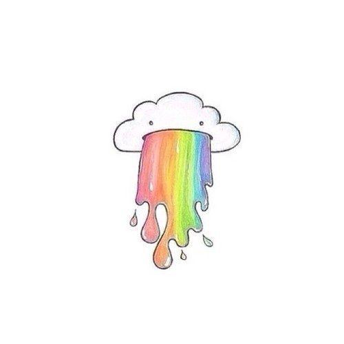 Cute unicorn barfing rainbows