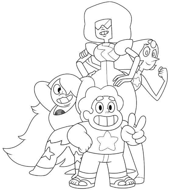 Steven Universe coloring page | Coloring books, Cartoon coloring ...